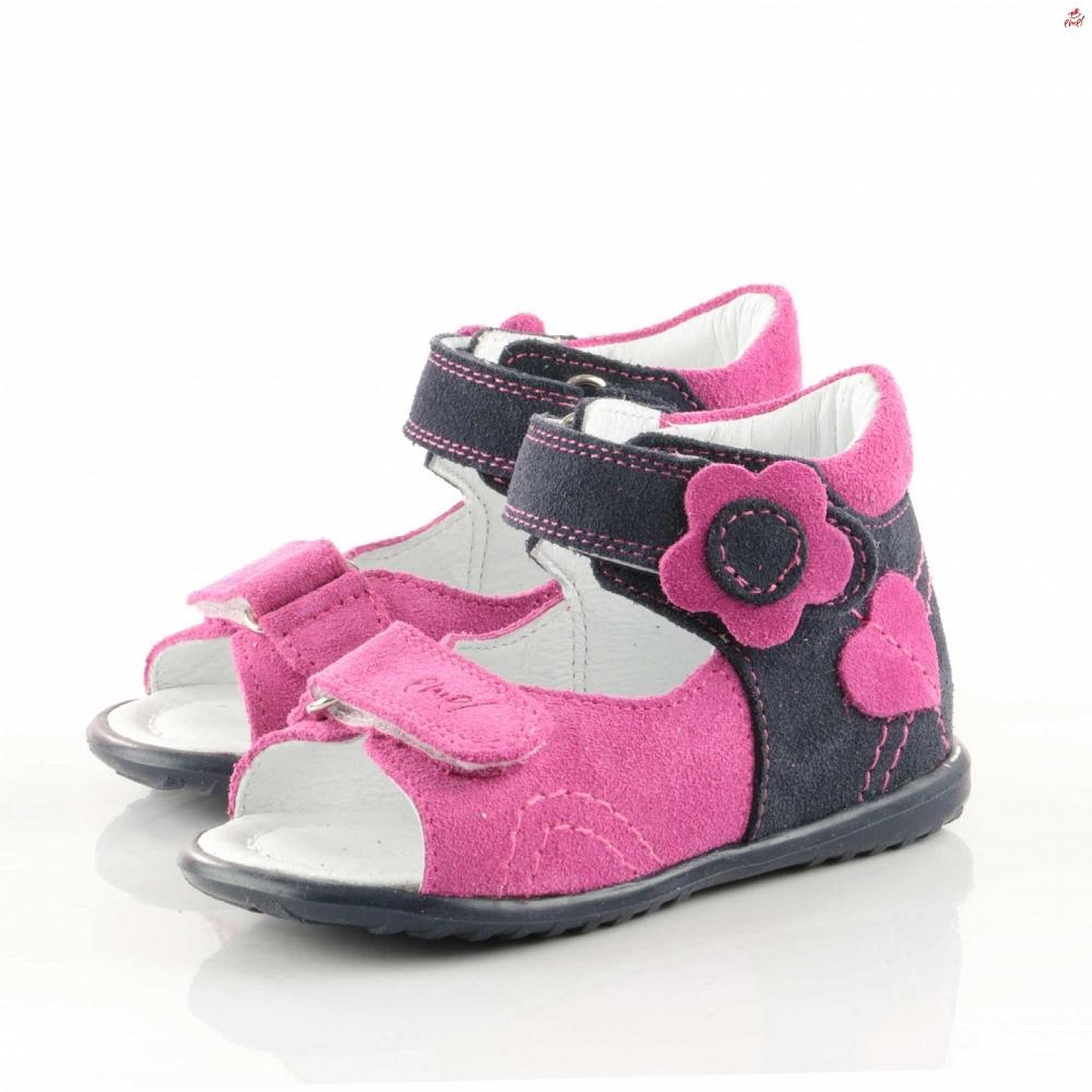 Różowo - granatowe sandały Emel E 2213-7